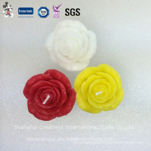 Colorful Rose Flower Shaped Art Candle