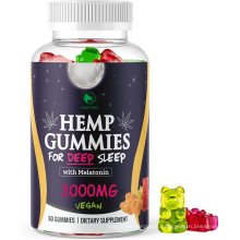 Delicious fruit flavors hemp seed extract melatonin gummy bears for relaxation, sleep,insomnia & anxiety relief