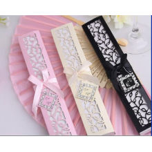 Creme Weiß Geschenkbox Verpackung Benutzerdefinierte Hochzeit Geschenk Fan Großhandel