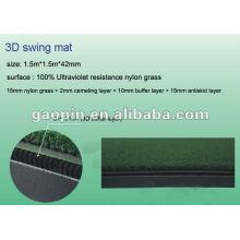 Estera del campo de golf 3layer 3D / estera del oscilación / estera que golpea