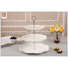 porcelain 3 tier cake stand