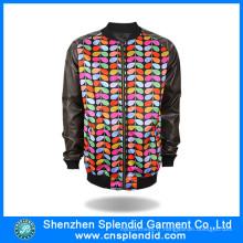 2016 Veste polaire colorée faite sur commande de conception faite en Chine
