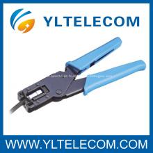 RG-59(4C)/RG-6(5C) ferramentas F Coaxial conector frisador