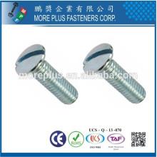 Fabricante en Taiwán Acero al carbono DIN964 Mx18 ranurado Aumentado avellanado Tornillo de la máquina