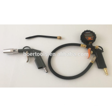 Top-Qualität Digital Air Reifen Aufblaspistole Luft Staubpistole 4ST Kit