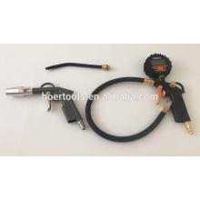 Top qualidade Digital Air Pneu Inflating Gun pistola de ar de poeira 4 pcs kit