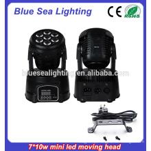 7x10w rgbw 4in1Led Mini usado movendo cabeça luzes