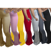 Fall 2020 new sexy casual women plus size skinny pants girls' pants flared trousers