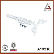 A19210 electric plated curtain rod ,double single curtain rod set,decoration curtain rod accessories