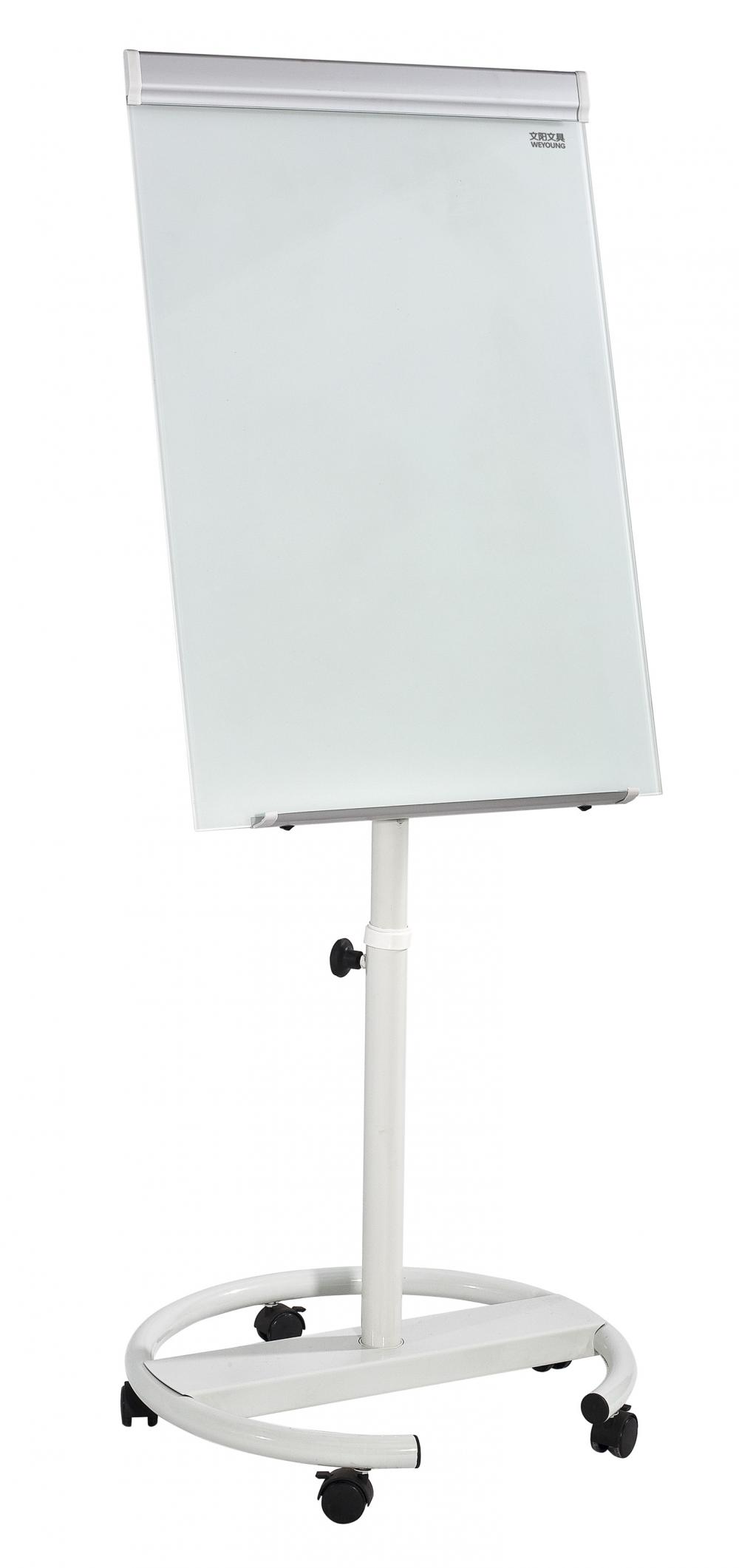 Office mobile magnetic glass flipchart easel