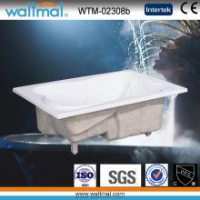 Drop in 2 Person Acryl rechteckige Badewanne (WTM-02308b)