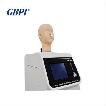 Máscara de tecido não tecido testador de resistência respiratória, máquina de teste de resistência respiratória de inalação de máscara