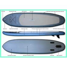 Sup inflável, prancha de surfe mais vendida com ponto de rebatimento