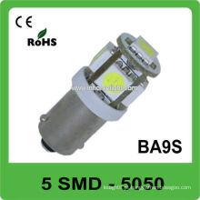 A venda quente 5pcs 5050 SMD DC12V Ba9s levou a lâmpada
