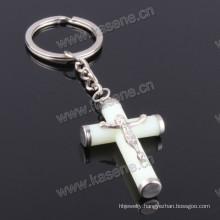 Hot Sale Catholic Luminous Green Jesus Cross Keychain