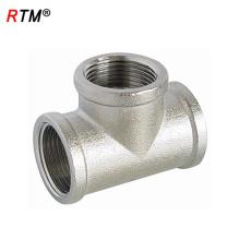B17 6 8 tuberías de níquel de 3 vías tubos de juntas tubos de fontanería accesorios de plomería de latón