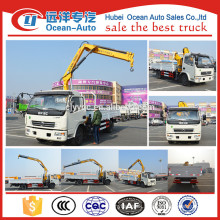 DFAC 3 Tons Mini pickup truck crane with cable winch