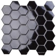 Modern Fashion Style Anti-Microbial Black Hexagon Mosaic Tile