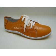 Lates sapatos de couro de lazer feminino sapatos de couro casual (fs002)