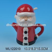 2016 Natal Santa leite de cerâmica e açúcar pote