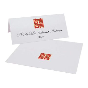 Rote und weiße chinesische doppelte Glück-einfache Platz-Druckkarten, die Einladungs-Karte Wedding sind