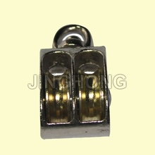 SS: Nickel Plated Swivel Eye US Type Pulley With Double