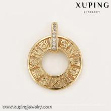33203 La última joyería de brújula con diseño diseñado graba el colgante del zodiaco para la venta