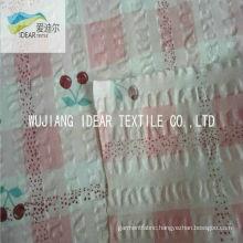 Printed Pure 100% Cotton Seersucker Fabric For Garment