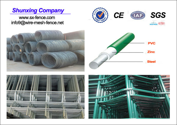 PVC coated of wire mesh fence