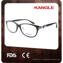 2017 Lady acétate matériel avec métal réglable nez tampons acétate matériau optique lunettes lunettes