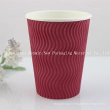 Coupe en papier moulé ondulé ondulé pour tasse de café chaud