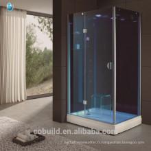 K-712 bleu trempé verre jet massage hammam salle de douche guangdong articles ménagers