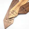 Engraved Custom Logo Sapelli Men Wood Necktie