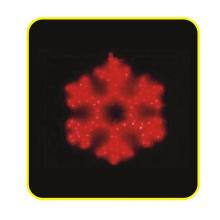 Светодиодный свет для Motif, 2d Snowflake