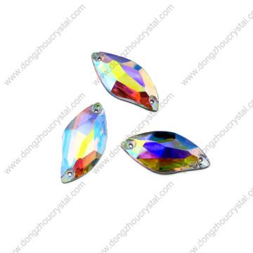 Pujiang Großhandel Nähen auf Glas Stein Perlen für Bekleidungszubehör