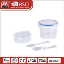 Conteneur de stockage hermétique en plastique alimentaire de haute qualité avec cuillère