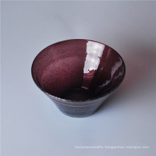 Solid Color Glass Bowl with Bubble