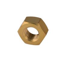Tuerca de latón DIN934 tuerca hexagonal de color tuerca de latón