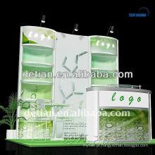 Concepção e fabrico de stands de exposição modulares para espectáculos de calçado