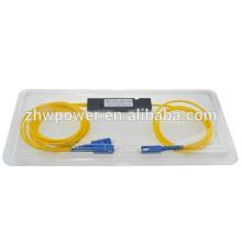 1x2 FBT Пассивный волоконно-оптический сплиттер, SC оптический волоконно-оптический соединитель / сплиттер 1310 / 1550нм