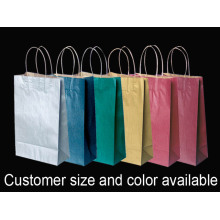 Color Kraft Paper Full Printing Handtas