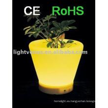 Decoración LED maceta de flores IP54 RGB color cambiante macetas luminosas recargables macetas