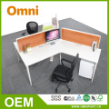 120 Degree Office Partition Island Workstation für 2 Personen