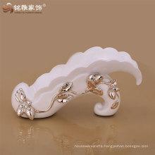 home decorative white color resin wine rack in elegant design