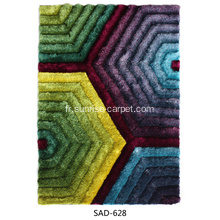 tapis shaggy polyester conception 3D populaire