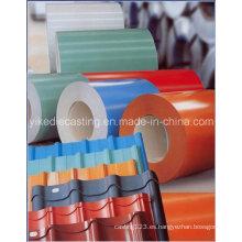 Material de construcción de chapa de acero galvanizado PPGI