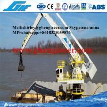 500 т / ч Bulk Handling Плавающий гидравлический кран E-Crane