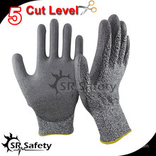 SRSAFETY 13 gauge knitted liner coated nitrile anti-cut working glove