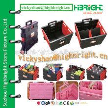 plastic portable grandma pack&roll cart