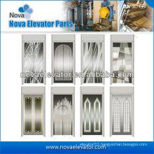 Mirror/Etching/Hairline Elevator Door Panel and Door Plate, Door Panel for Elevator Cabin